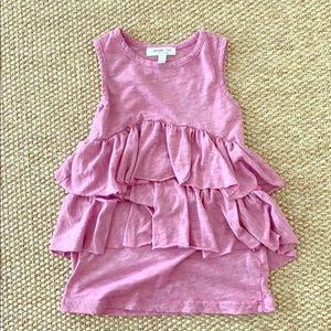 Other - JOAH LOVE tiered pink & gray sleeveless dress sz 3